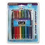 PAP70644 - Point Guard Flair Porous Point Stick Pen, Assorted Ink, Medium, 16 per Pack
