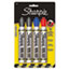 SAN15674PP - King Size Markers, Chisel Tip, Blue/Red/Black, 4/Set