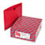 SMD75509 - File Jackets, Reinforced Double-Ply Tab, Letter, 11 Point Stock, Red, 100/Box
