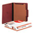 UNV10250 - Pressboard Classification Folder, Letter, Four-Section, Red, 10/Box