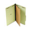 UNV10261 - Pressboard Classification Folder, Legal, Four-Section, Green, 10/Box