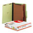 UNV10271 - Pressboard Classification Folder, Letter, Six-Section, Green, 10/Box