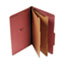 UNV10280 - Pressboard Classification Folder, Legal, Six-Section, Red, 10/Box