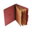 UNV10290 - Pressboard Classification Folder, Letter, Eight-Section, Red, 10/Box