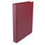 "UNV31406 - Round Ring Binder, Suede Finish Vinyl, 1"" Capacity, Maroon"