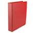 "UNV33403 - Suede Finish Vinyl Round Ring Binder, 1-1/2"" Capacity, Red"