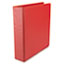 "UNV34403 - Suede Finish Vinyl Round Ring Binder, 2"" Capacity, Red"