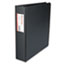 "UNV34411 - Suede Finish Vinyl Round Ring Binder With Label Holder, 2"" Capacity, Black"