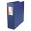 "UNV35412 - Suede Finish Vinyl Round Ring Binder With Label Holder, 3"" Capacity, Royal Blue"