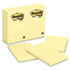 MMM659YW - Original Notes, 4 x 6, Canary Yellow, 12 100-Sheet Pads/Pack