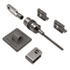 Desktop and Peripherals Locking Kit, 8ft Steel Cable, Two Keys
