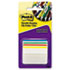 MMM686A1 - Durable Hanging File Tabs, 2 x 1 1/2, Striped, Assorted Colors, 24/Pack