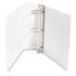 "WLJ36349W - Vinyl Round Ring Locking View Binder, 3"" Capacity, White"