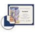 SOUPF8 - Certificate Holder, 12 x 9-1/2, Navy, Linen, 105 lbs., 10/Pack