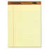 TOP7532 - The Legal Pad Legal Rule Perforated Pads, Letter Size, Canary, 50 Sht Pds, 12/Pk
