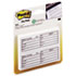 MMM76714 - Fax Transmittal Notes,1-1/2 x 4, White, 4 50-Sheet Pads/Pack