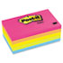 MMM6355AN - Original Pads in Neon Colors, 3 x 5, Lined, Neon Colors, 5 100-Sheet Pads/Pack