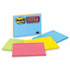 MMM6845SSPL - Super Sticky Large Format Notes, 8 x 6, Lined, Four Colors, 4 45-Sheet Pads/Pack