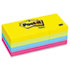 MMM653AU - Ultra Color Self-Stick Notes, 1-1/2 x 2, Four Colors, 12 100-Sheet Pads/Pack