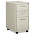 "BSX1623MQ - Embark Series Mobile Box/box/File Pedestal File w/""M"" Pull Drwr, 20d, Light Gray"