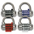 "MLK1534D - Password Plus Combination Lock, Hardened Steel Shackle, 2-1/2"" Wide, Silver"