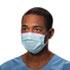 Procedure Mask, Pleat-Style w/Ear Loops, Blue, 500/Carton