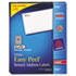 AVE5167 - Easy Peel Laser Address Labels, 1/2 x 1-3/4, White, 8000/Box