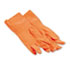 BWK244L - Flock-Lined Latex Cleaning Gloves, Large, Orange, Dozen