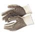 PVC Dot String-Knit Gloves, Cotton/Polyester, Large