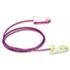 SparkPlugs Single-Use Earplugs, Corded, 33NRR, Asst. Colors, 100 Pairs