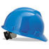 V-Gard Hard Hats, Ratchet Suspension, Size 6 1/2 - 8, Blue