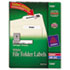 AVE5366 - Permanent Self-Adhesive Laser/Inkjet File Folder Labels, White, 1500/Box