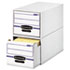 FEL00721 - Stor/Drawer File Drawer Storage Box, Letter, White/Blue, 6/Carton
