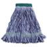"Super Loop Wet Mop Head, Cotton/Synthetic Fiber, 5"" Headband, Medium Size, Blue"