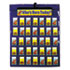 CDPCD5644 - Attendance/Multiuse Pocket Chart, 35 Pockets/Two-Sided Cards, Blue, 30 x 37 1/2