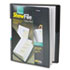 CRD50132 - ShowFile Display Book w/Custom Cover Pocket, 12 Letter-Size Sleeves, Black