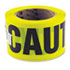 """Caution Safety Tape, Non-Adhesive, 3"""" x 1000 ft"""