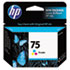 HEWCB337WN140 - CB337WN (HP 75) Ink Cartridge, 170 Page-Yield, Tri-Color