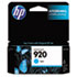HEWCH634AN140 - CH634AN (HP-920) Ink Cartridge, 300 Page-Yield, Cyan
