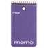 "MEA45354 - Memo Book, College Ruled, 3"" x 5"", Wirebound, Punched, 60 Sheets, Assorted"