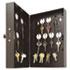 """Hook-Style Key Cabinet, 28-Key, Steel, Black, 7-3/4""""w x  3-1/4""""d x 11-1/2""""h"""