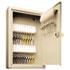 Uni-Tag Key Cabinet, 30-Key, Steel, Sand, 8 x 2 5/8 x 12 1/8