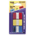 MMM686RYB - Durable File Tabs, 1 x 1 1/2, Assorted Standard Colors, 66/Pack