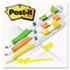 MMM689HL3FL - Flag + Highlighter, Yellow/Green/Orange, 50 Flags/Pen, 3/Pk