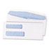 QUA24532B - Double Window Security Tinted Check Envelope, #8, White, 1000/Box