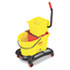 RCP768000YW - Wavebrake 35-Qt Dual Water Side Press Mop Bucket & Wringer, Yellow