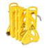 """Portable Mobile Safety Barrier, Plastic, 13ft x 40"""", Yellow"""