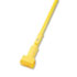 """Plastic Jaws Mop Handle for 5 Wide Mop Heads, 60"""" Aluminum Handle, Yellow"""