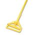 "Quick Change Side-Latch Plastic Mop Head Handle, 60"" Aluminum Handle, Yellow"