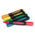 UNV18860 - Desk Highlighter w/Comfort Grip, Chisel Tip, 5/Set